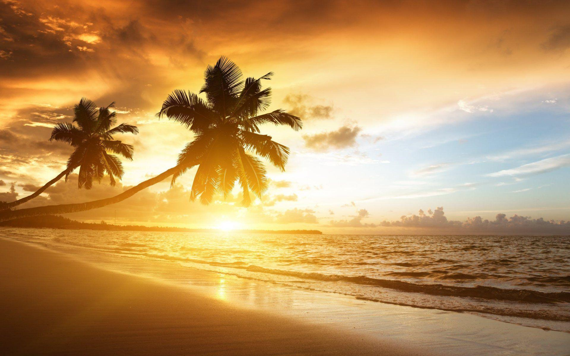 Beach Sunset Background Wallpaper 301 Full HD Wallpaper Desktop ...