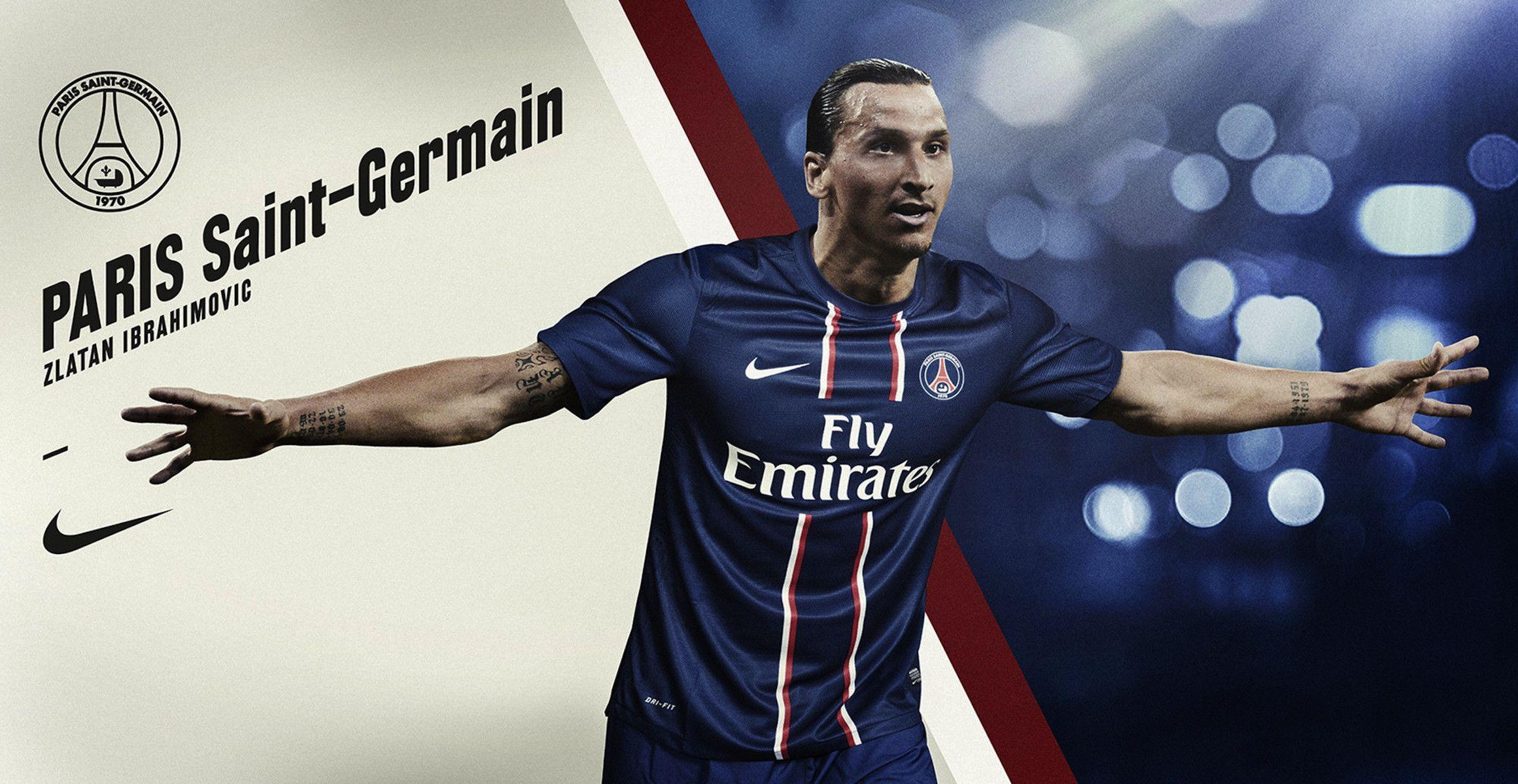 Zlatan Ibrahimovic PSG Wide HD Wallpaper