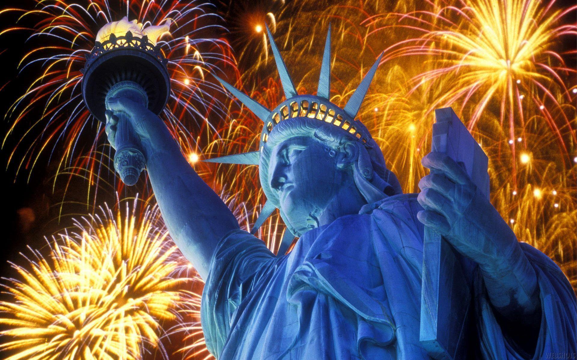 4th of July Fireworks in Statue of Liberty Exclusive HD Wallpapers ...