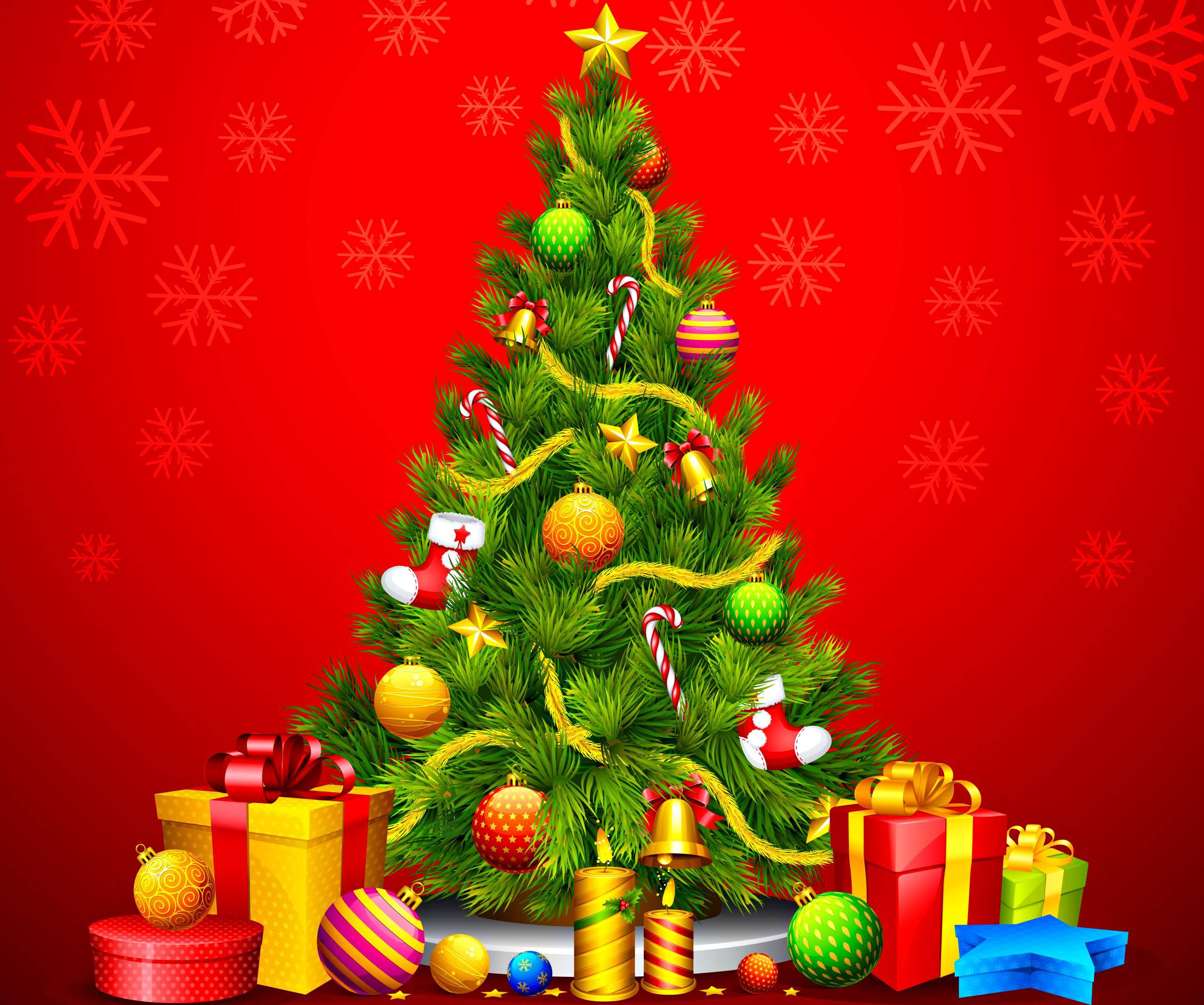 christmas xmas wallpapers: 3d christmas tree, animated gif