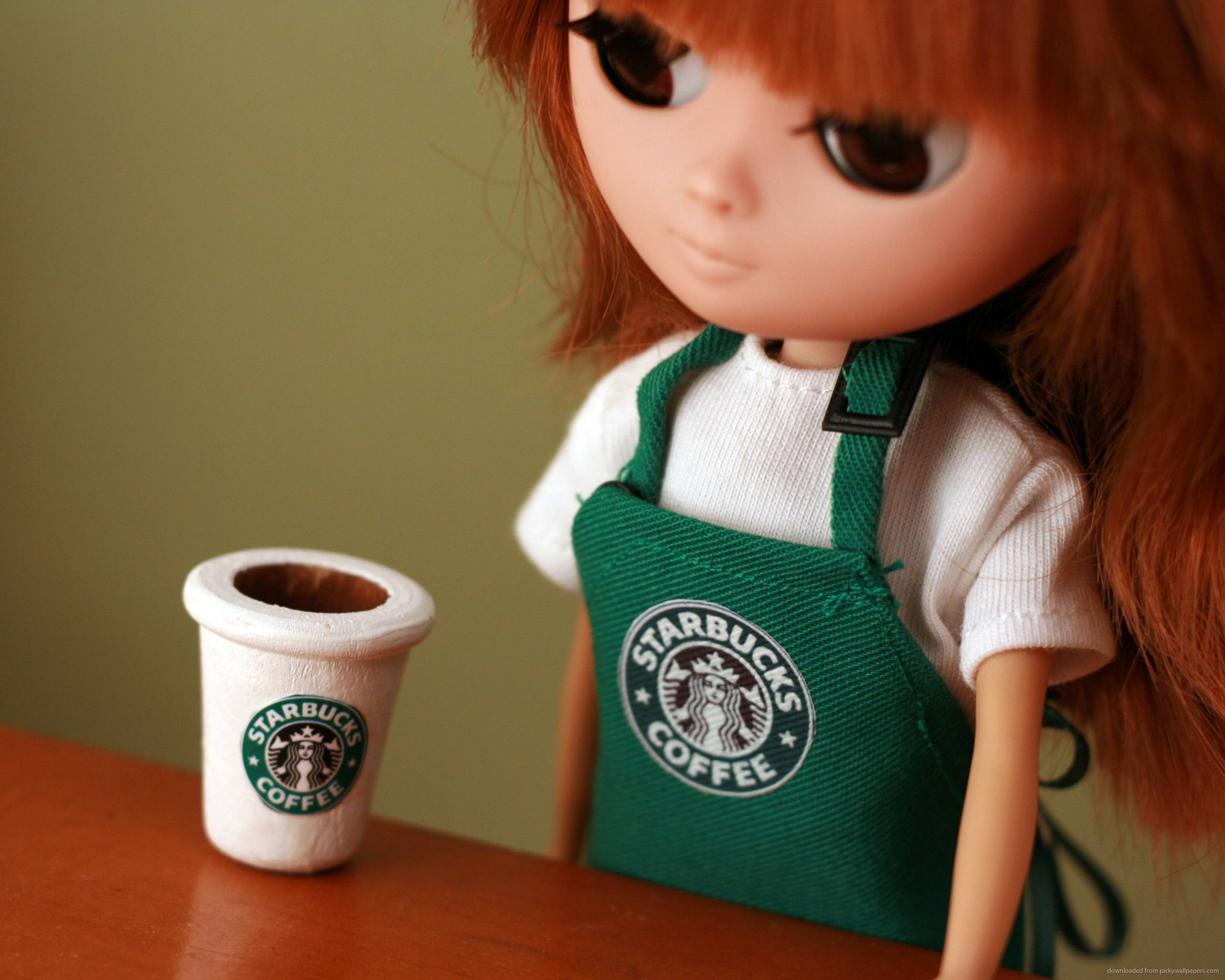 Download 2560x2048 Starbucks Doll Wallpaper