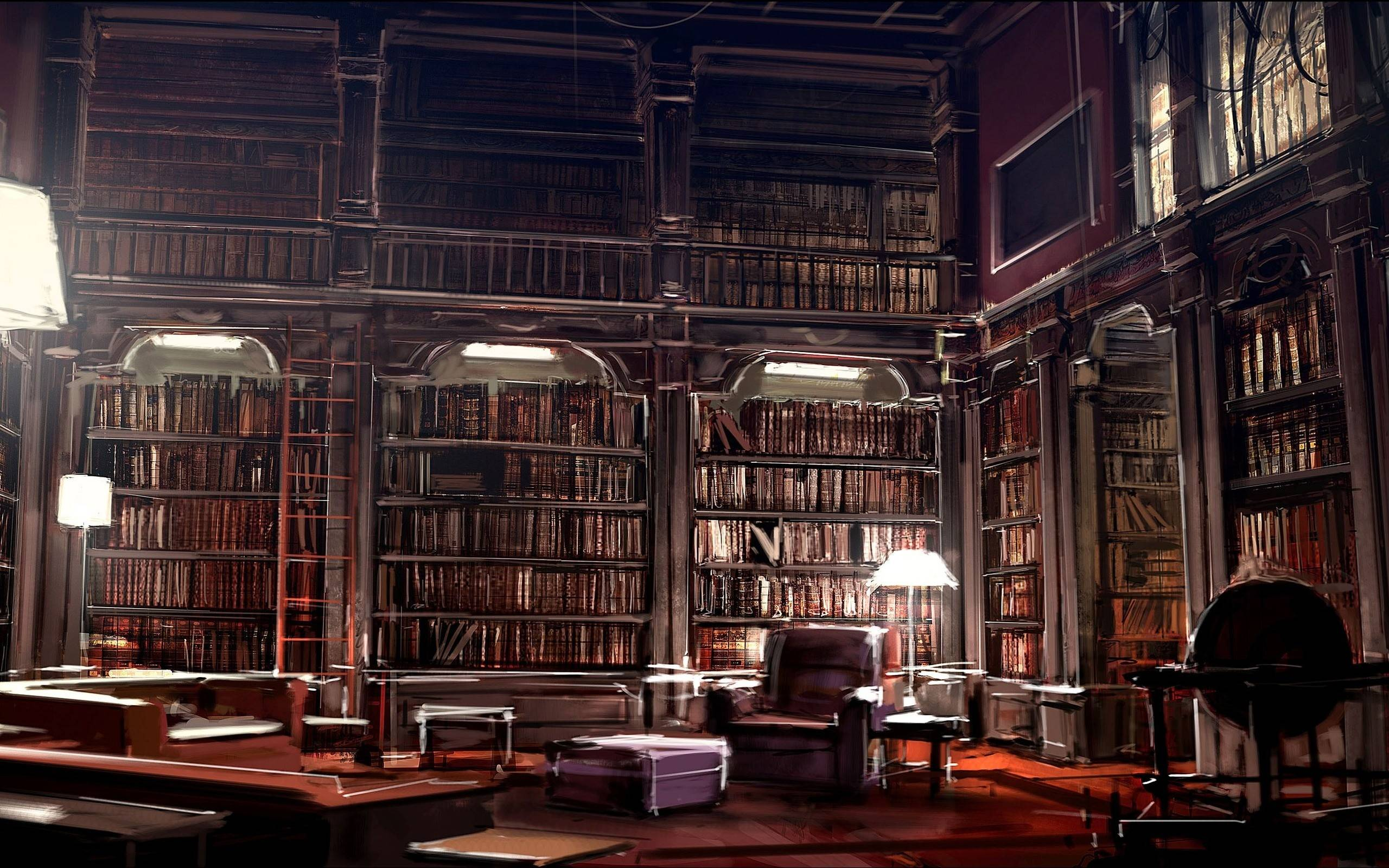 wallpapers for magic library wallpaper
