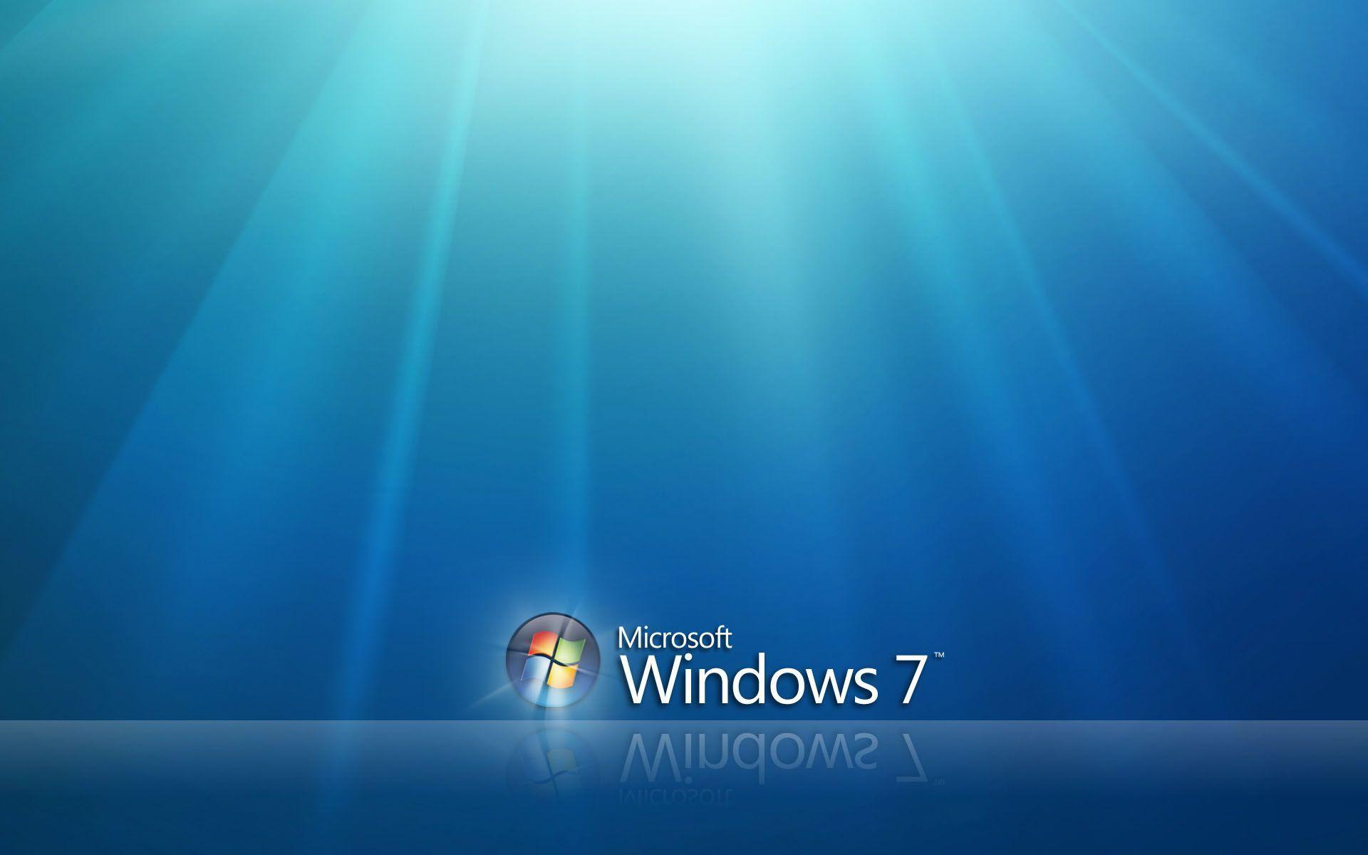 Download Wallpapers Windows 7 4k Se7en Blue Background: Microsoft Windows 7 Desktop Backgrounds