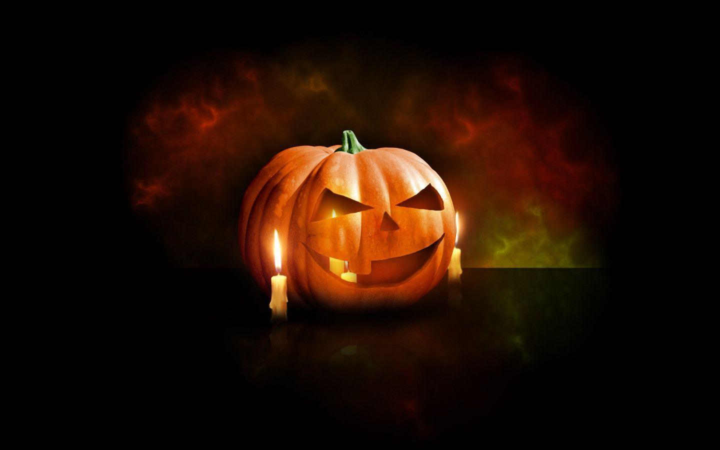 Design a Halloween Pumpkin Wallpapers in Photoshop