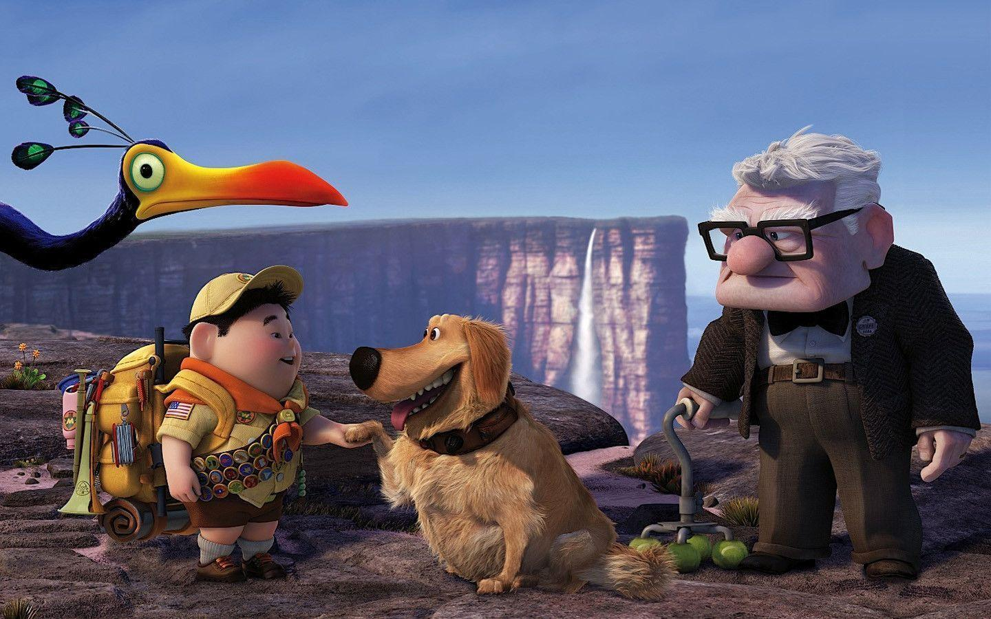 Russell Dug Carl Fredricksen in Pixar's UP Wallpapers | HD Wallpapers