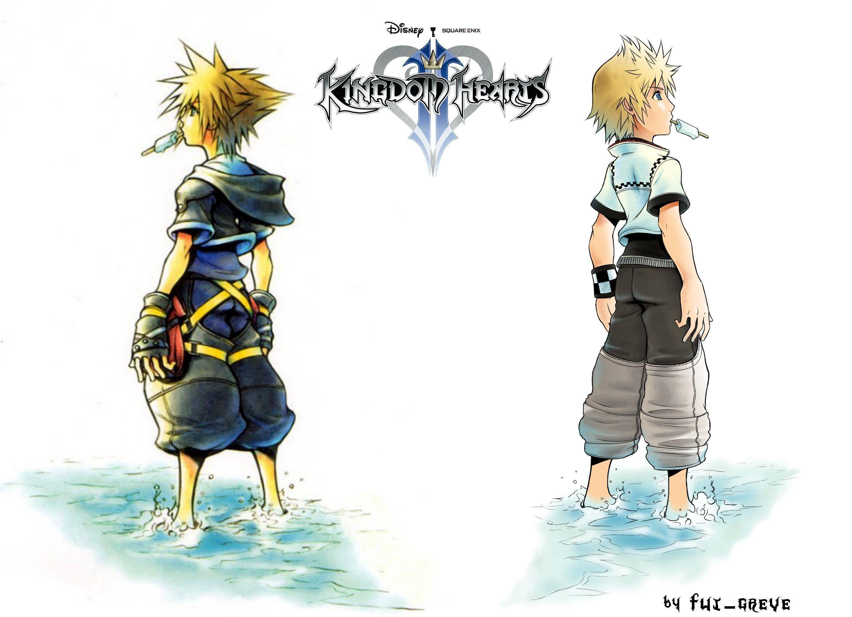kingdom hearts roxas wallpapers wallpaper cave