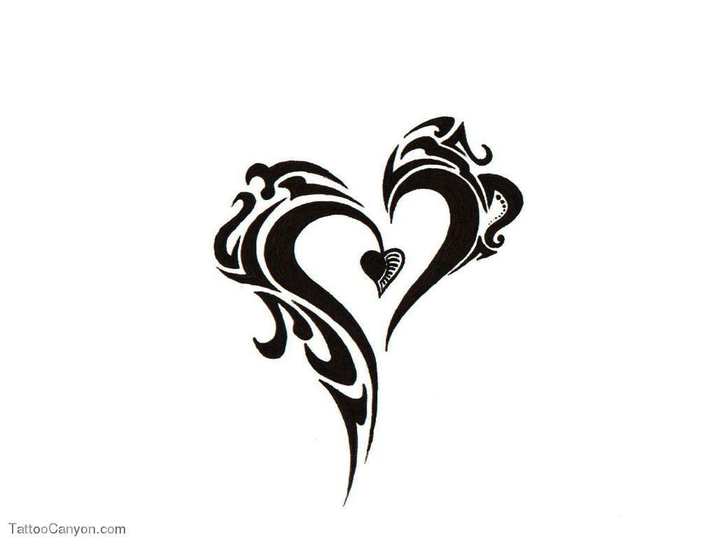 Free Designs Tribal Heart Tattoo Wallpapers Picture #