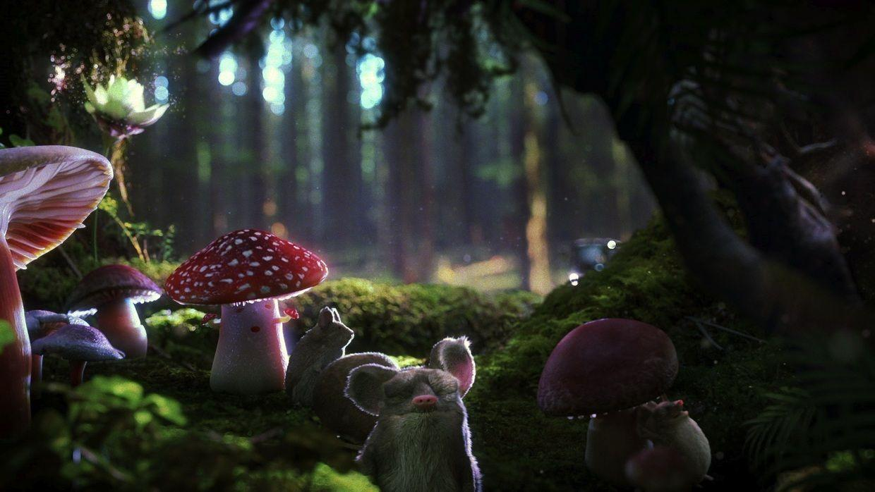 how to draw a animated forest