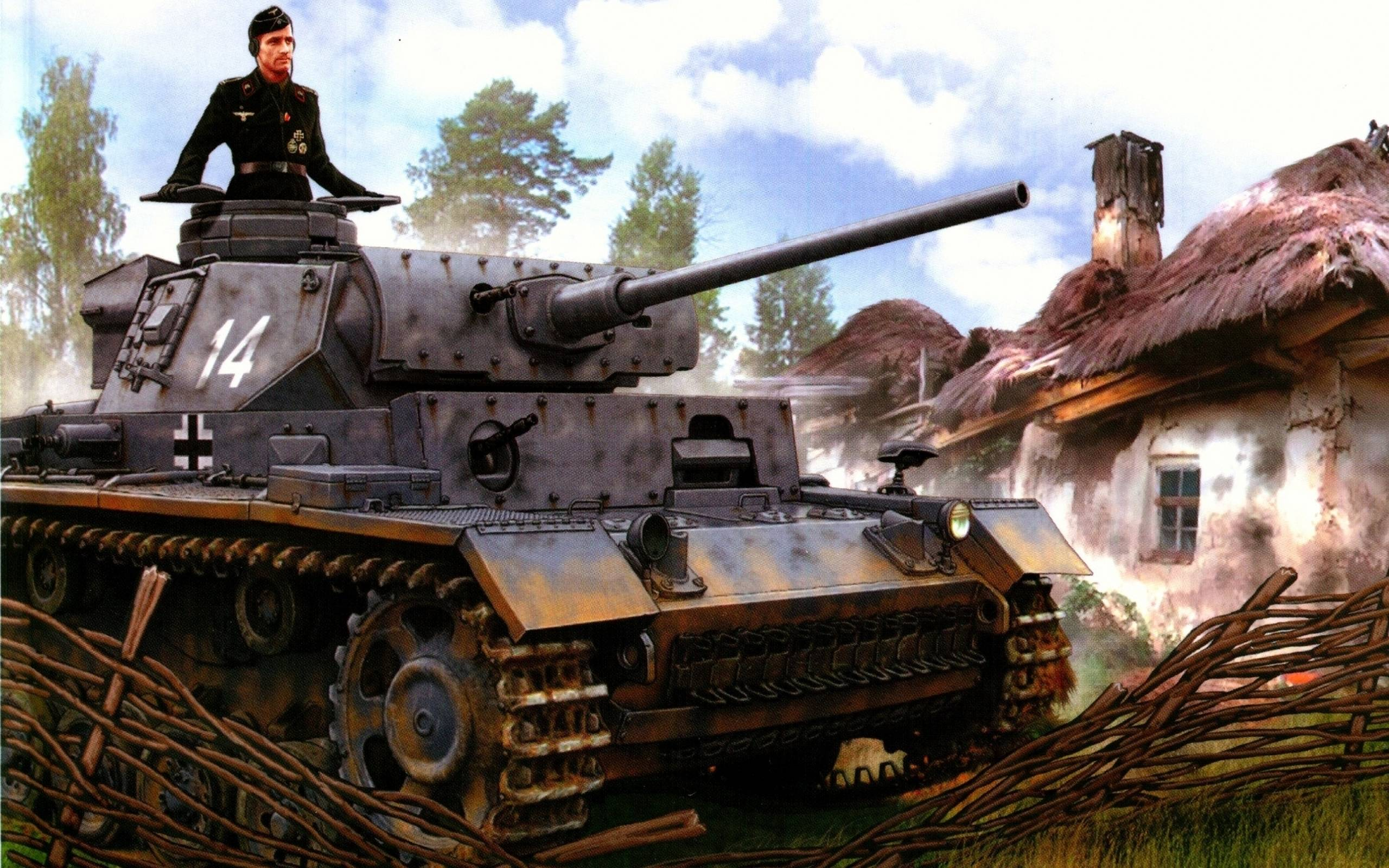 Download wallpapers panzer iii, ww2, military art free desktop