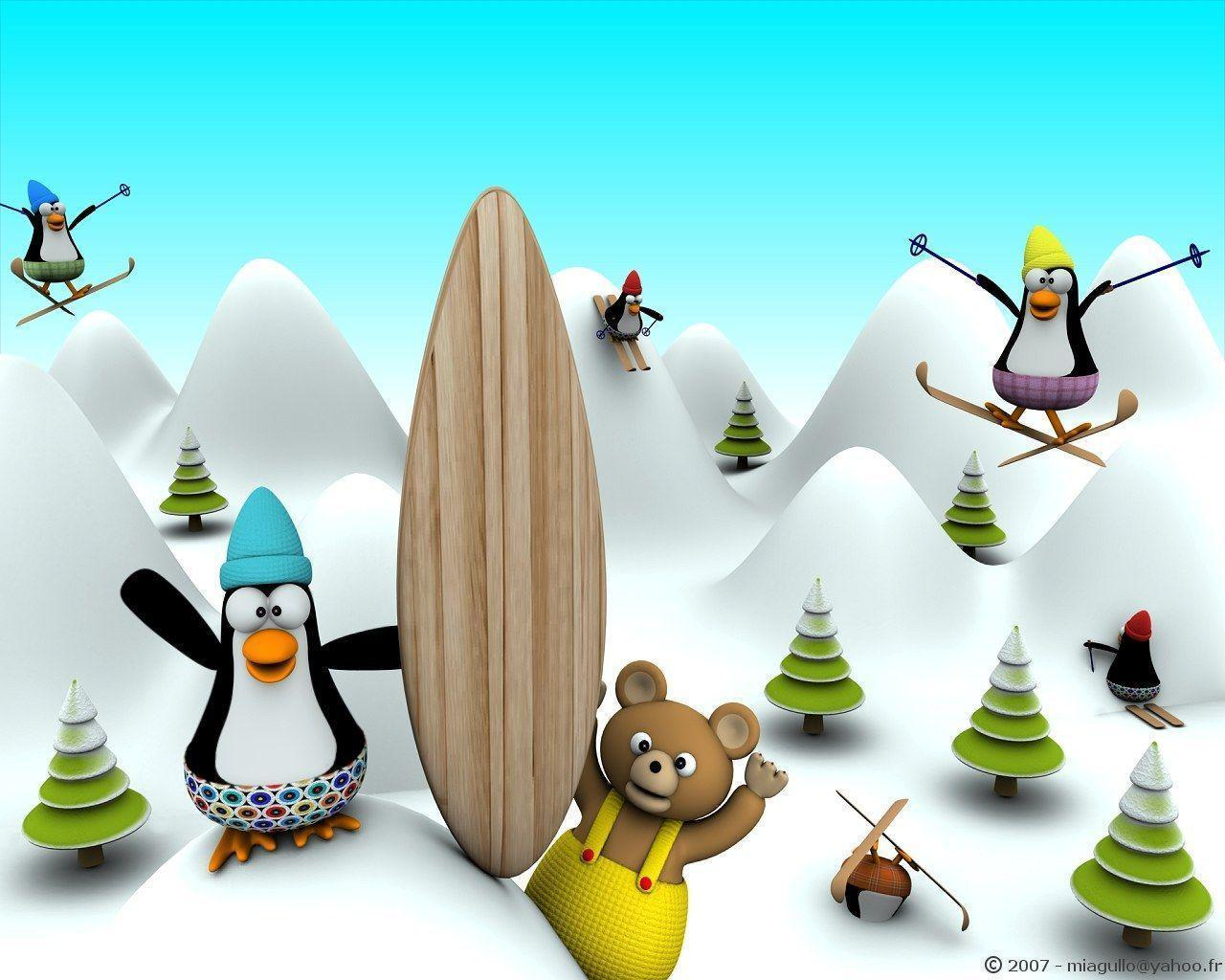 Funny 3D Cartoon Design wallpapers 1280x1024 NO.20 Desktop