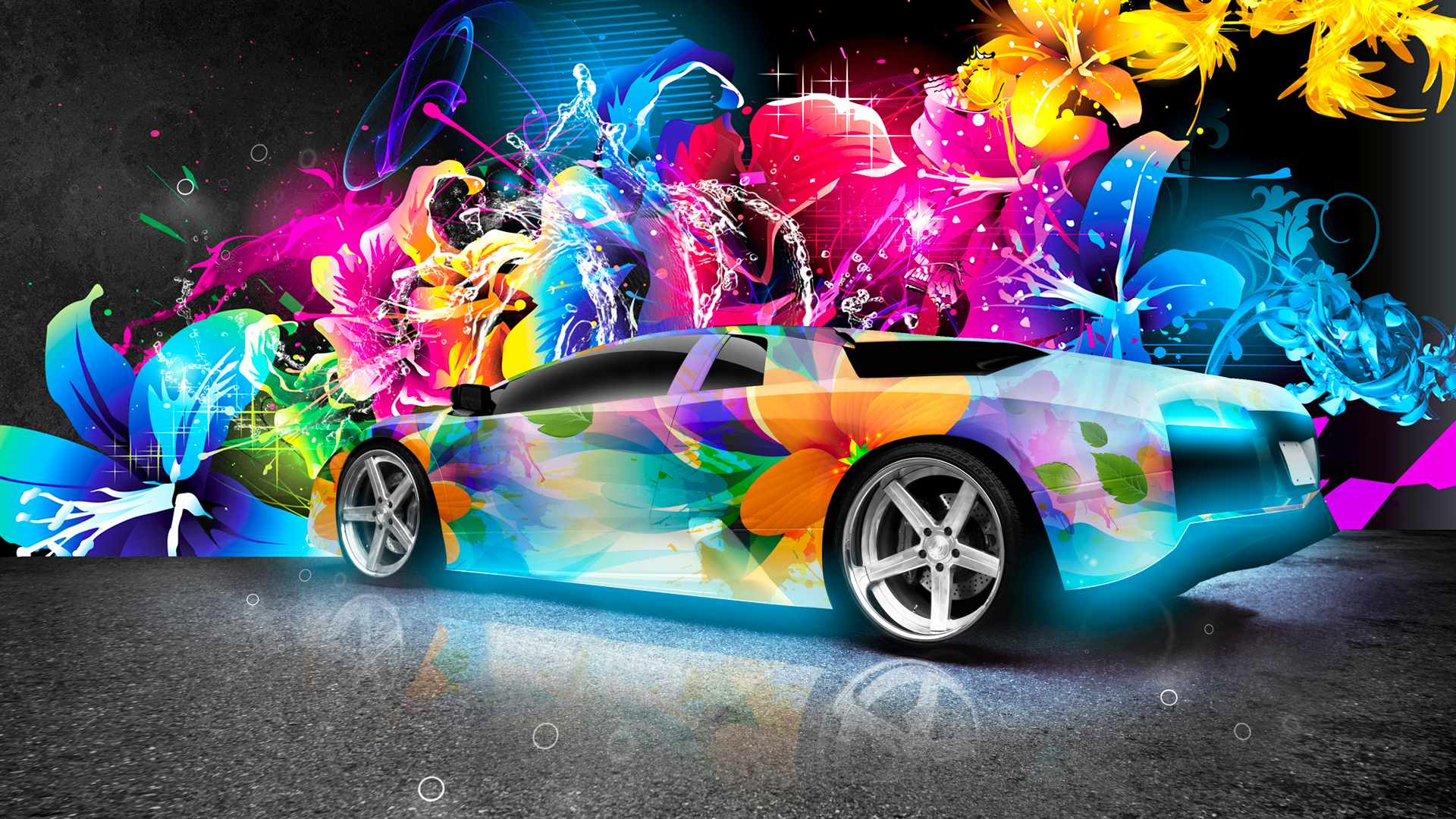 2015 Colorful Lamborghini Most Luxurious Car Backgrounds 1080p