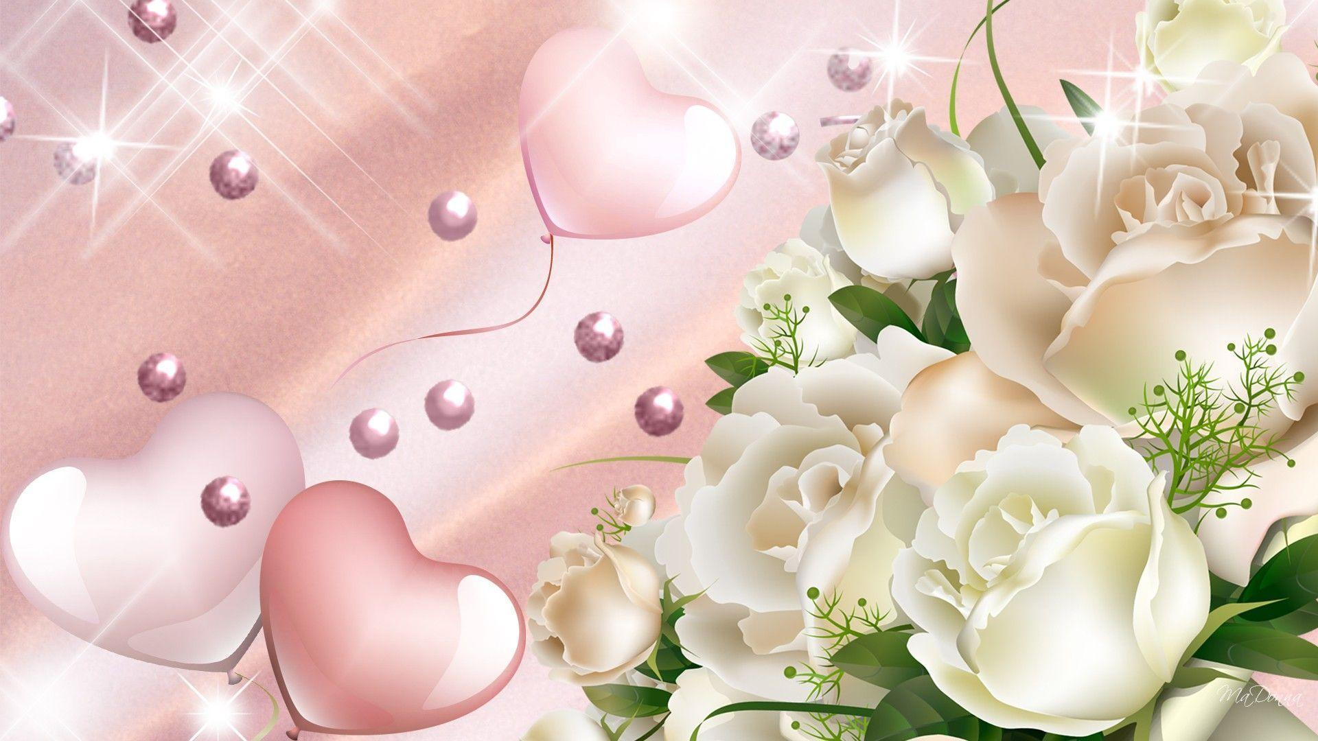 Hearts And Flowers Wallpapers - Wallpaper Cave