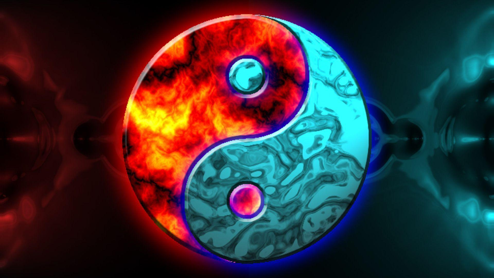 Red Blue Yin Yang HD Wallpapers Desktop Backgrounds Free