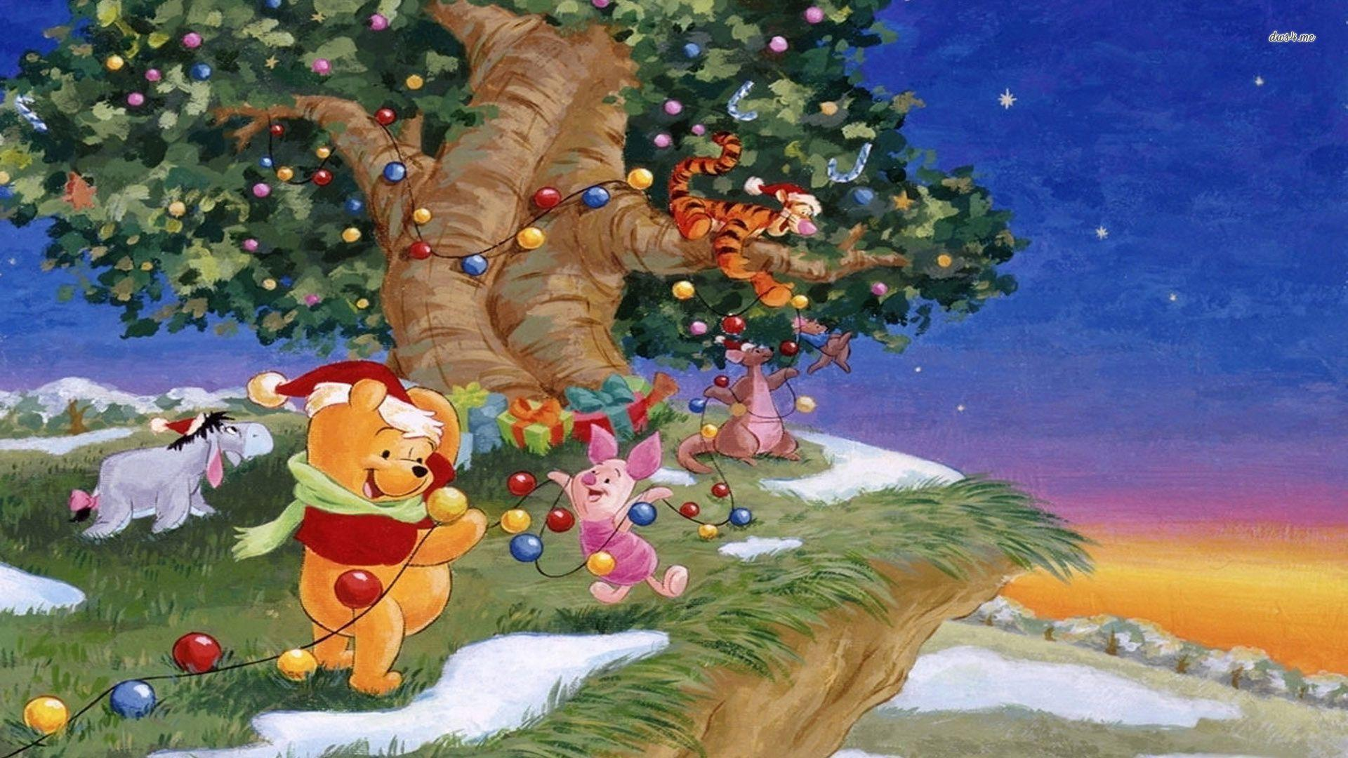 winnie the pooh christmas wallpapers wallpaper cave. Black Bedroom Furniture Sets. Home Design Ideas