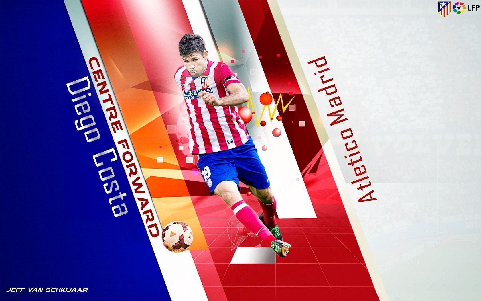 DeviantArt: More Like Diego Costa Atletico Madrid Wallpaper 2014 ...
