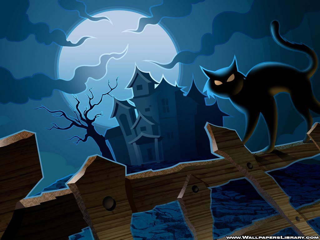 Wallpapers For > Halloween Kitten Wallpaper