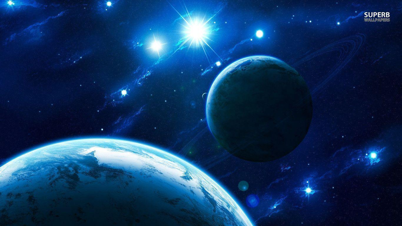 Blue light in space wallpapers
