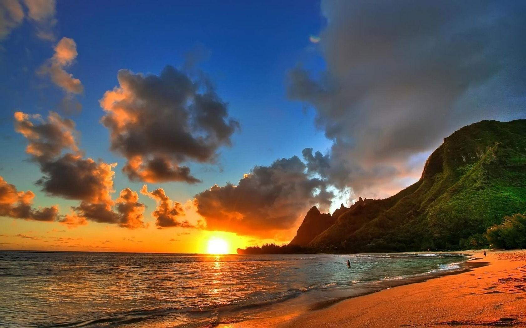 Image For > Hawaiian Beach Wallpapers