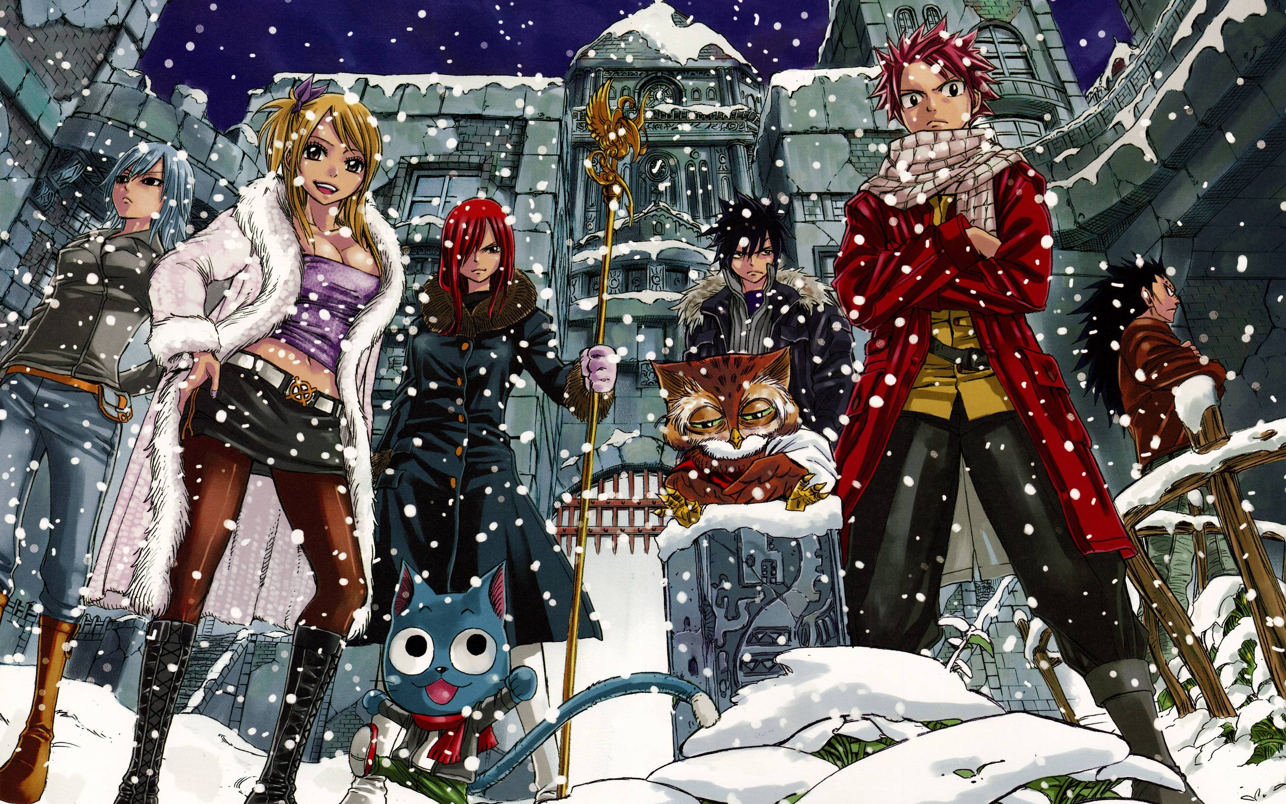 fairy tail anime christmas wallpaper - photo #11
