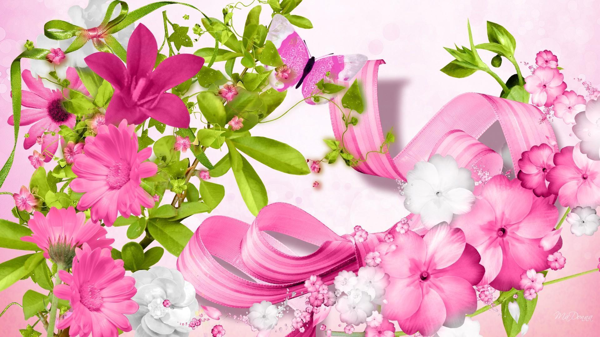 pink flower wallpapers wallpaper cave. Black Bedroom Furniture Sets. Home Design Ideas