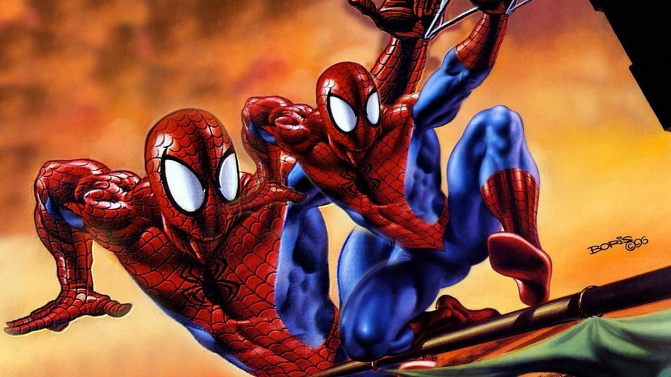 Aninimal Book: Black Spiderman Cartoon Wallpaper