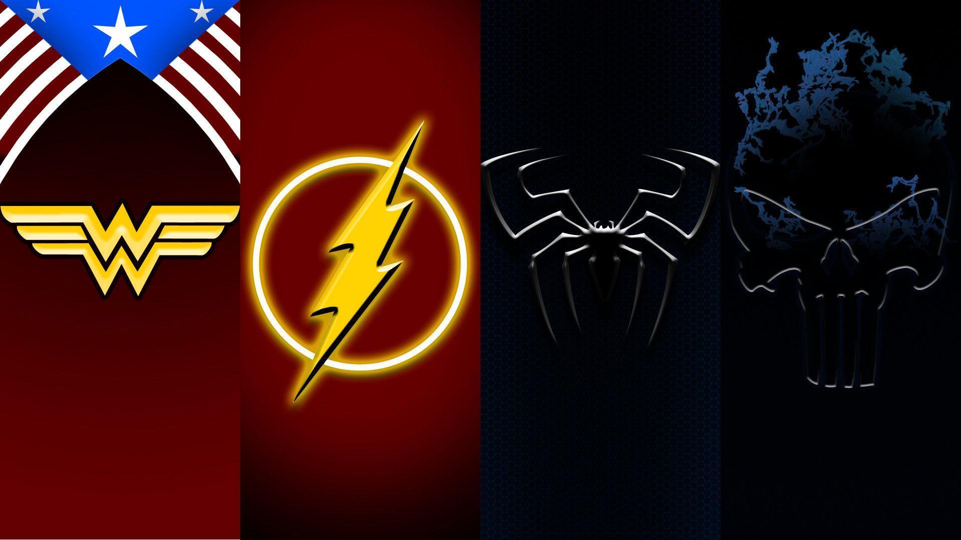 Flash And Wonder Woman Symbol Symbols Free Download