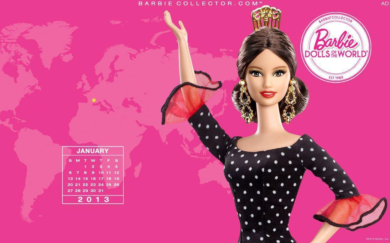 Januray 2013 - Barbie Collectors Wallpaper (33202461) - Fanpop