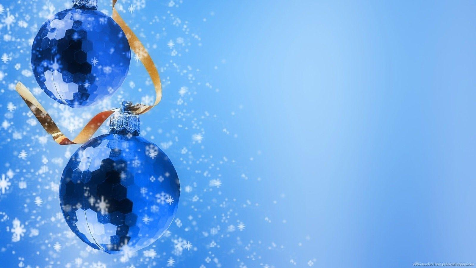 Wallpapers For Blue Christmas Background Wallpaper