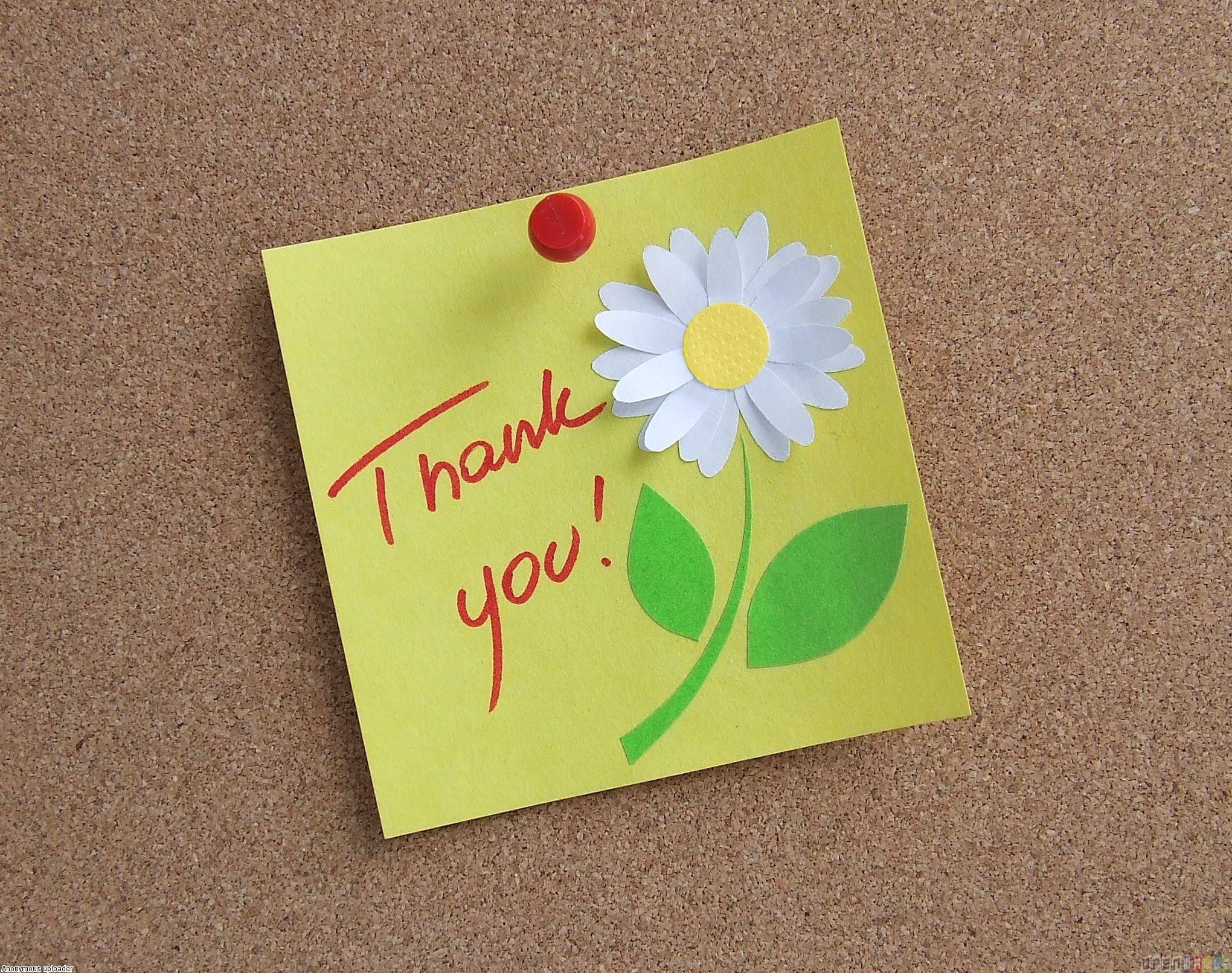 Thank You Notes Free HD Wallpaper
