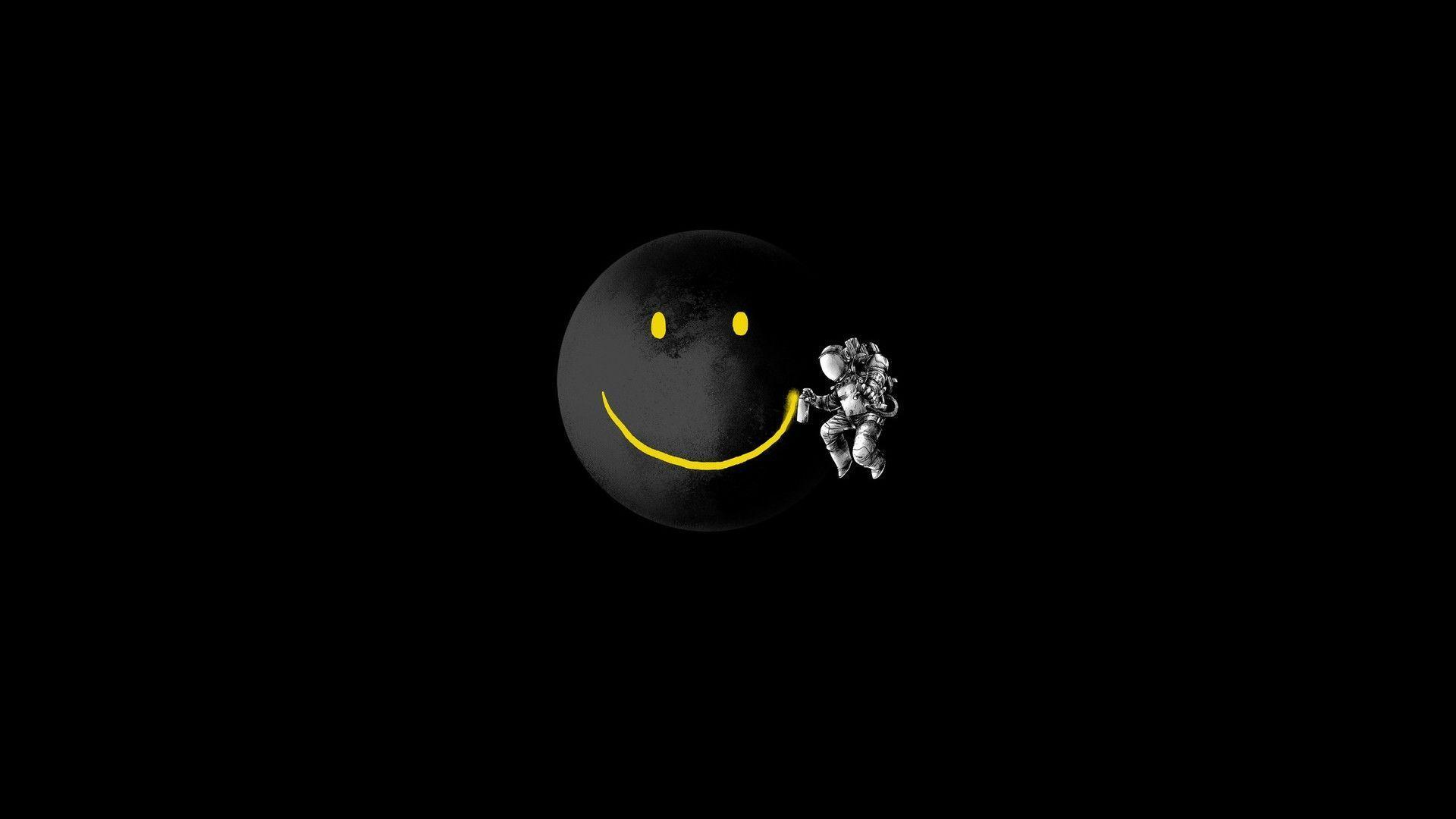 Smiley Face Black Backgrounds - Wallpaper Cave
