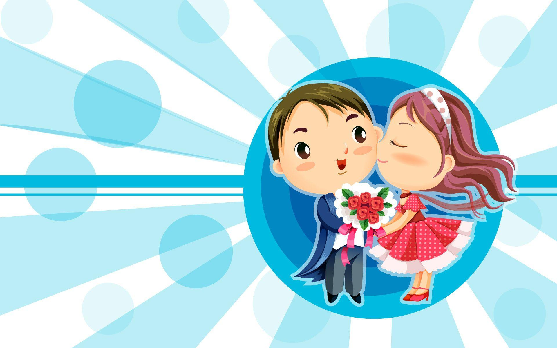 Cute Love Cartoon Wallpapers
