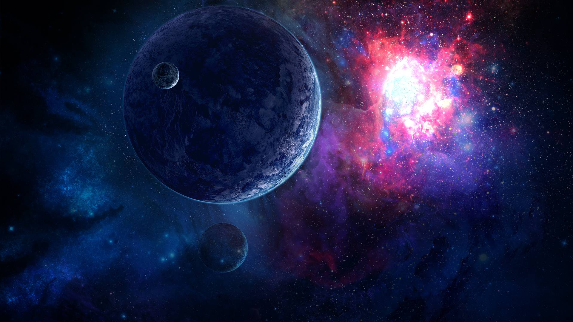 Space Wallpaper 1920x1080 Without Lower Planet By Danielbemelen On