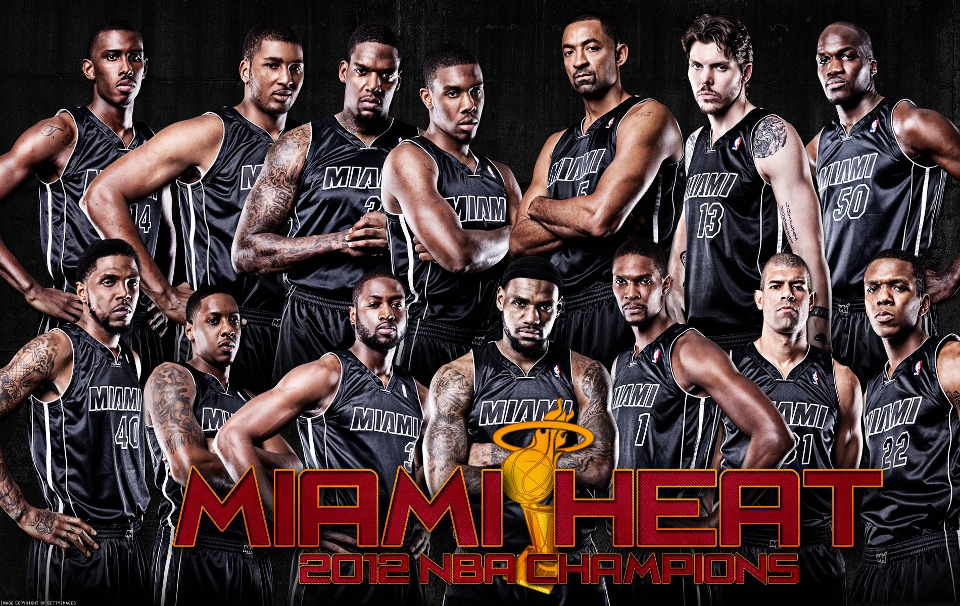 Mi miami heat team with lebron - Grab All Your Miami Heat Lebron James Finals Wallpapers Message