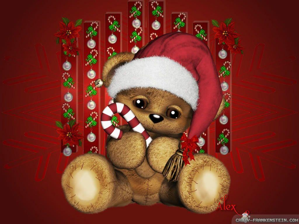 Christmas Teddy Bear Wallpaper: Cute Christmas Wallpapers