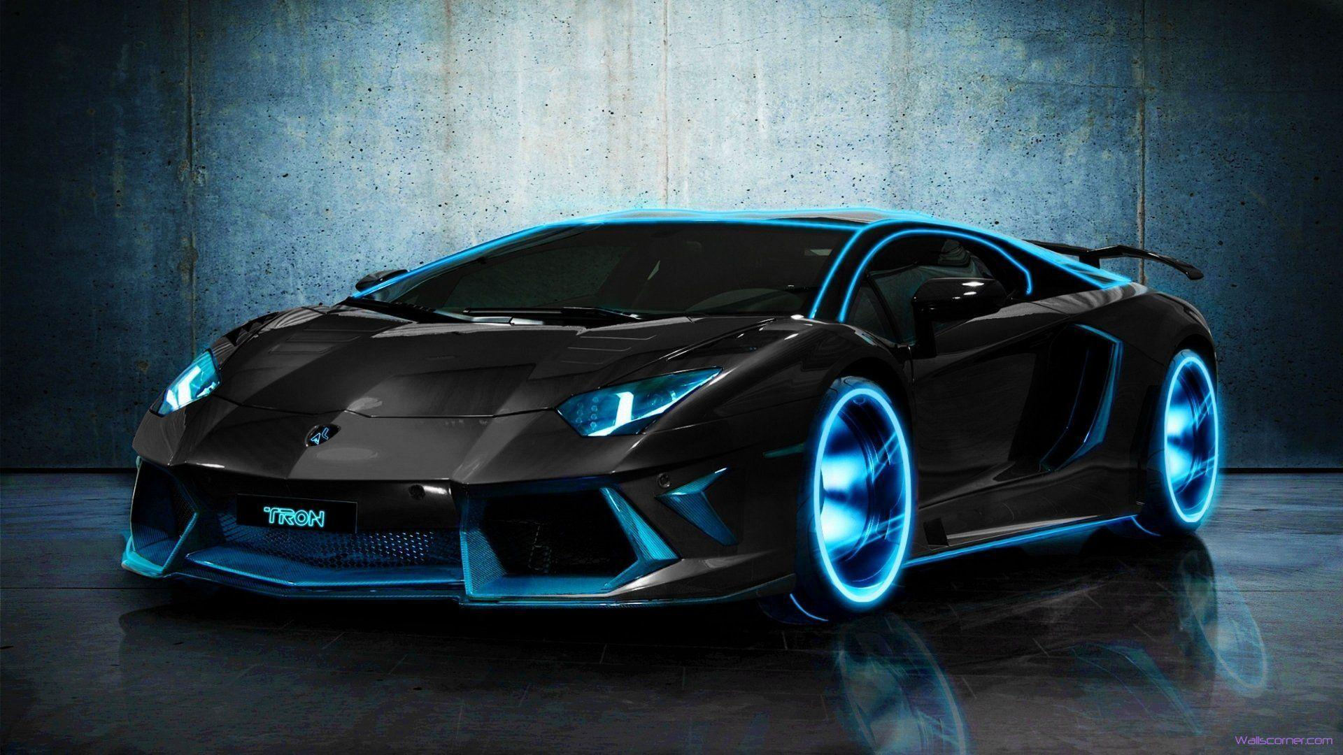 Beauty tron lamborghini aventador hd Wallpapers 1920x1080 2015