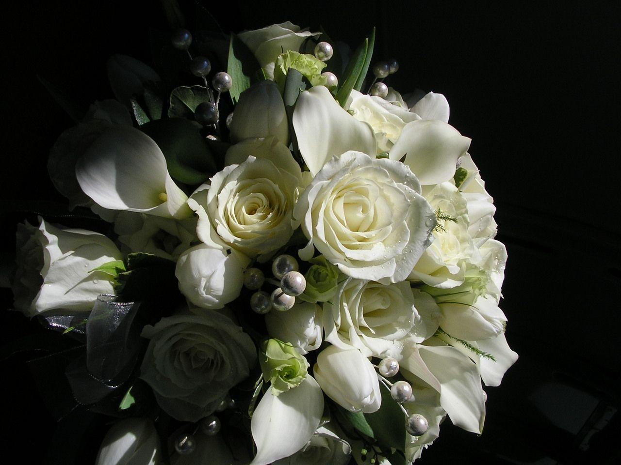 bouquet black background wallpaper - photo #1