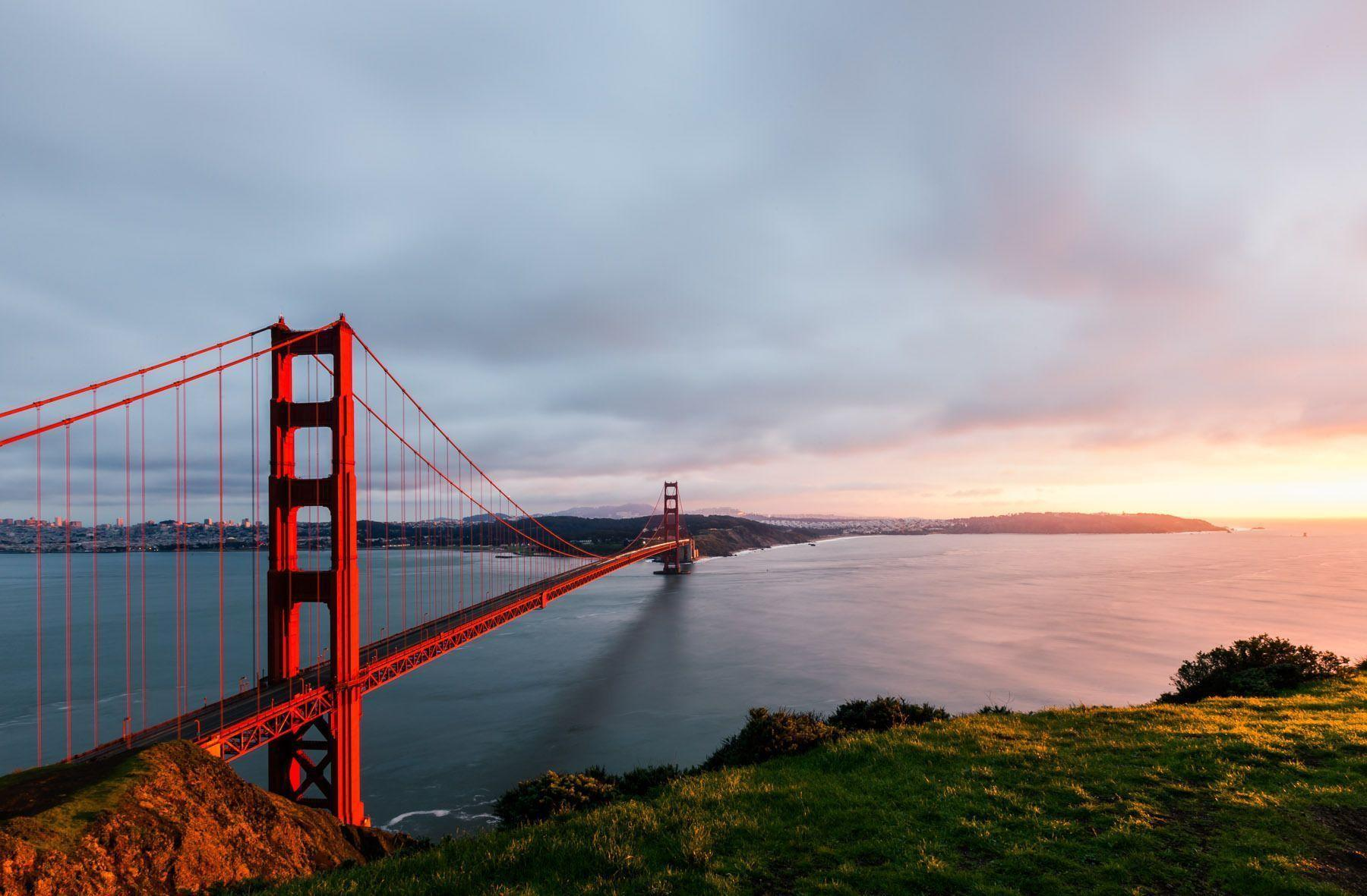 golden gate bridge lovely iphone wallpapers