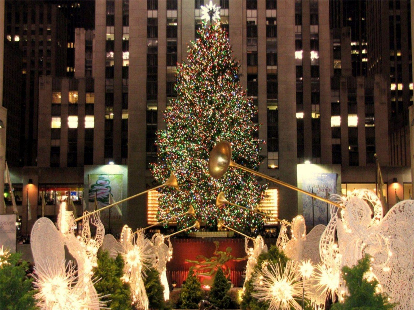 new york christmas wallpapers wallpaper cave. Black Bedroom Furniture Sets. Home Design Ideas