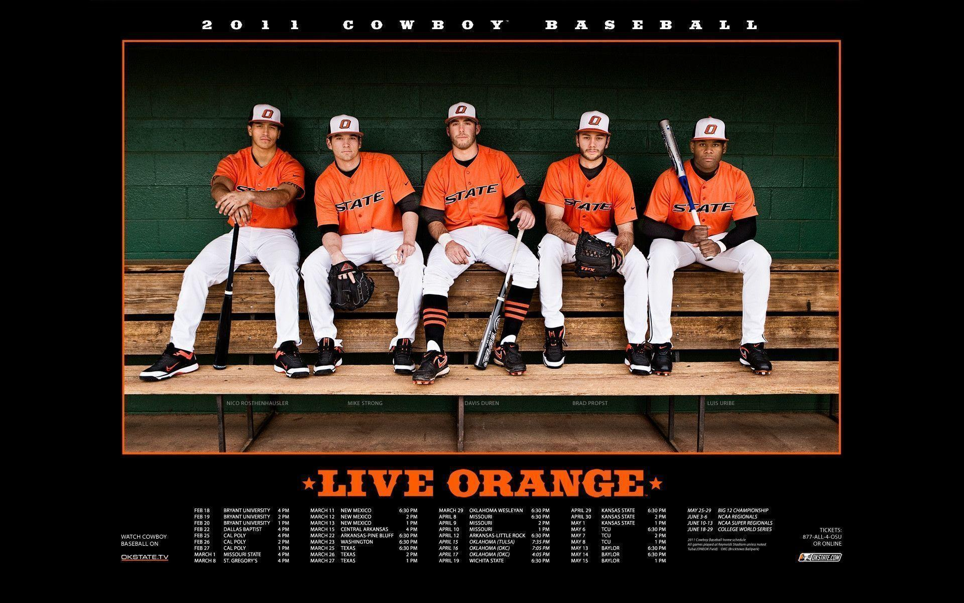 Oklahoma State baseball 2011 schedule : Desktop and mobile
