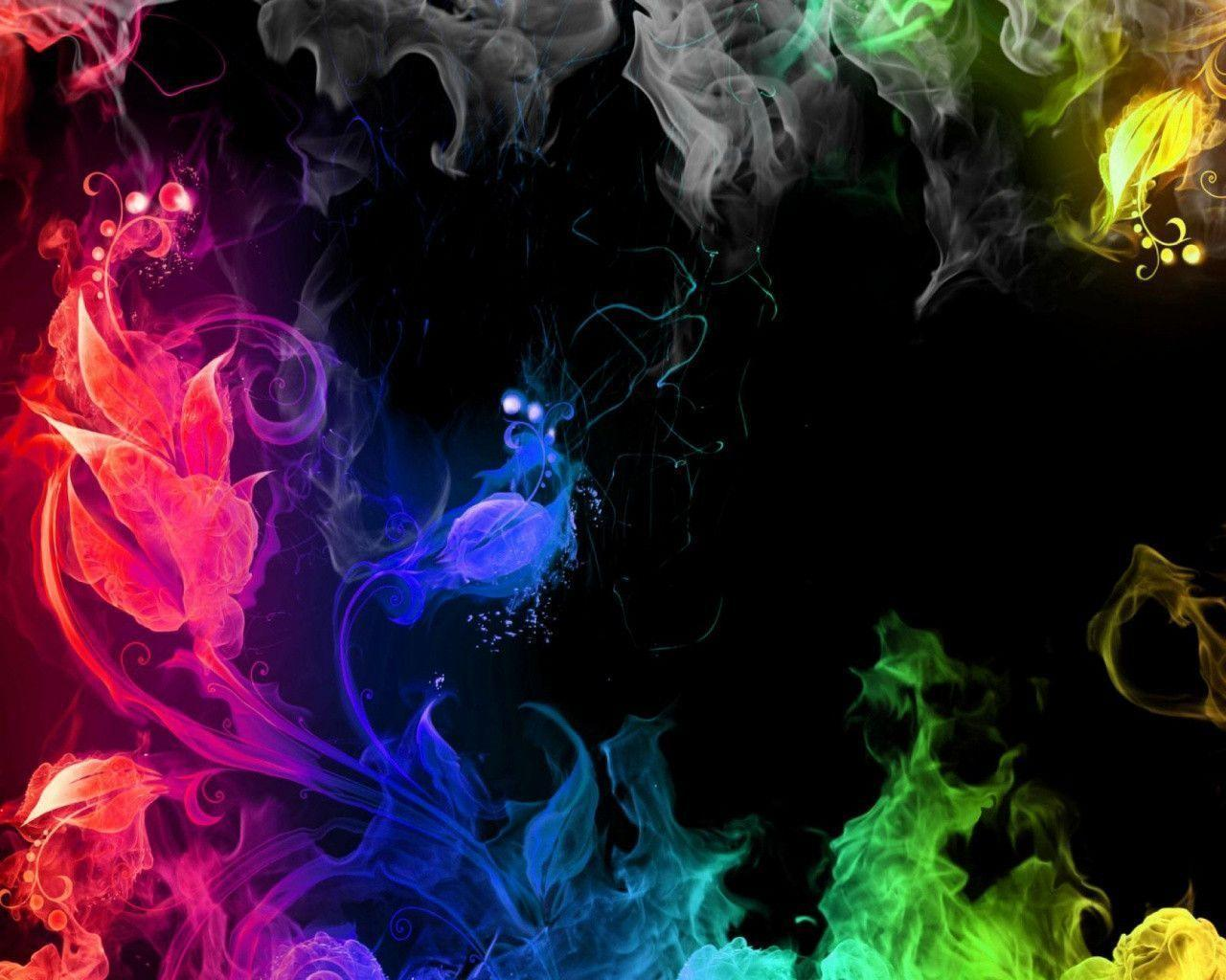 rainbow fire background - photo #22