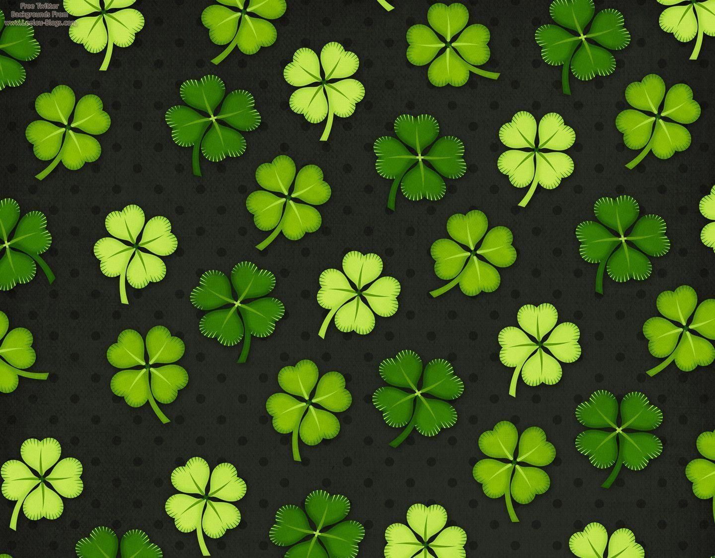 patricks day shamrock background - photo #17