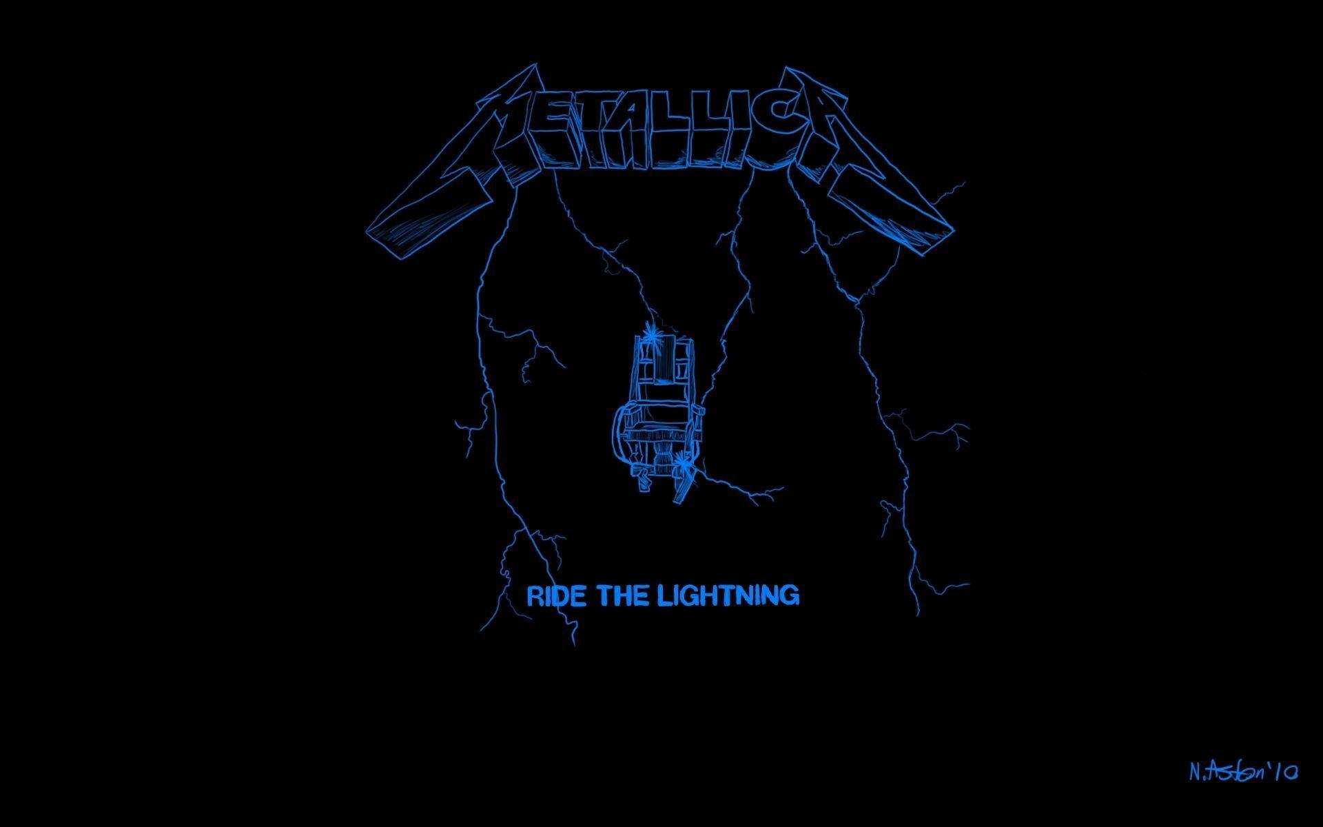 metallica lighting logo wallpaper - photo #5