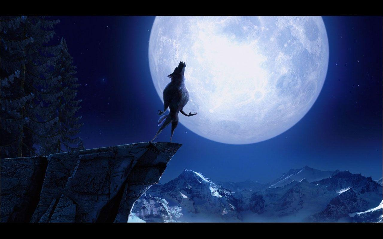 Wallpapers For > Howling Wolf Moon Wallpapers