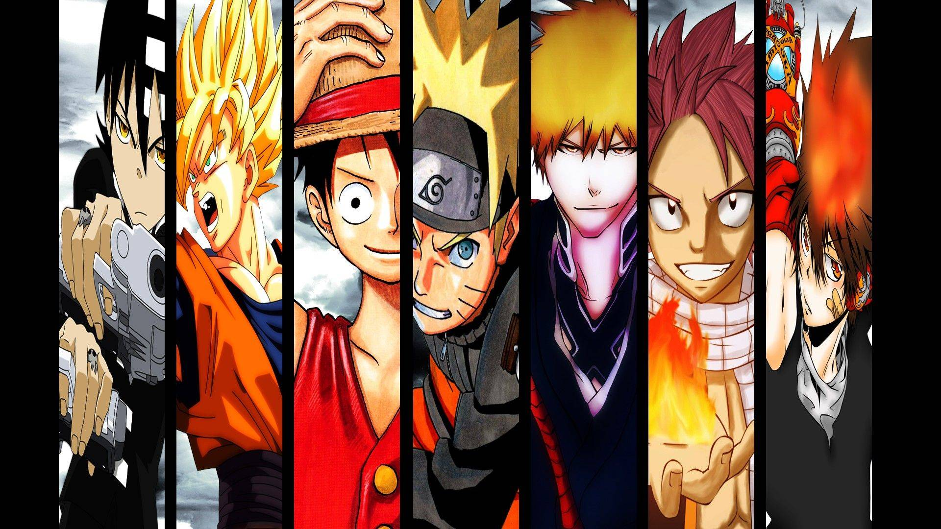 Naruto Bleach One Piece Fairy Tail All in One Wallpapers