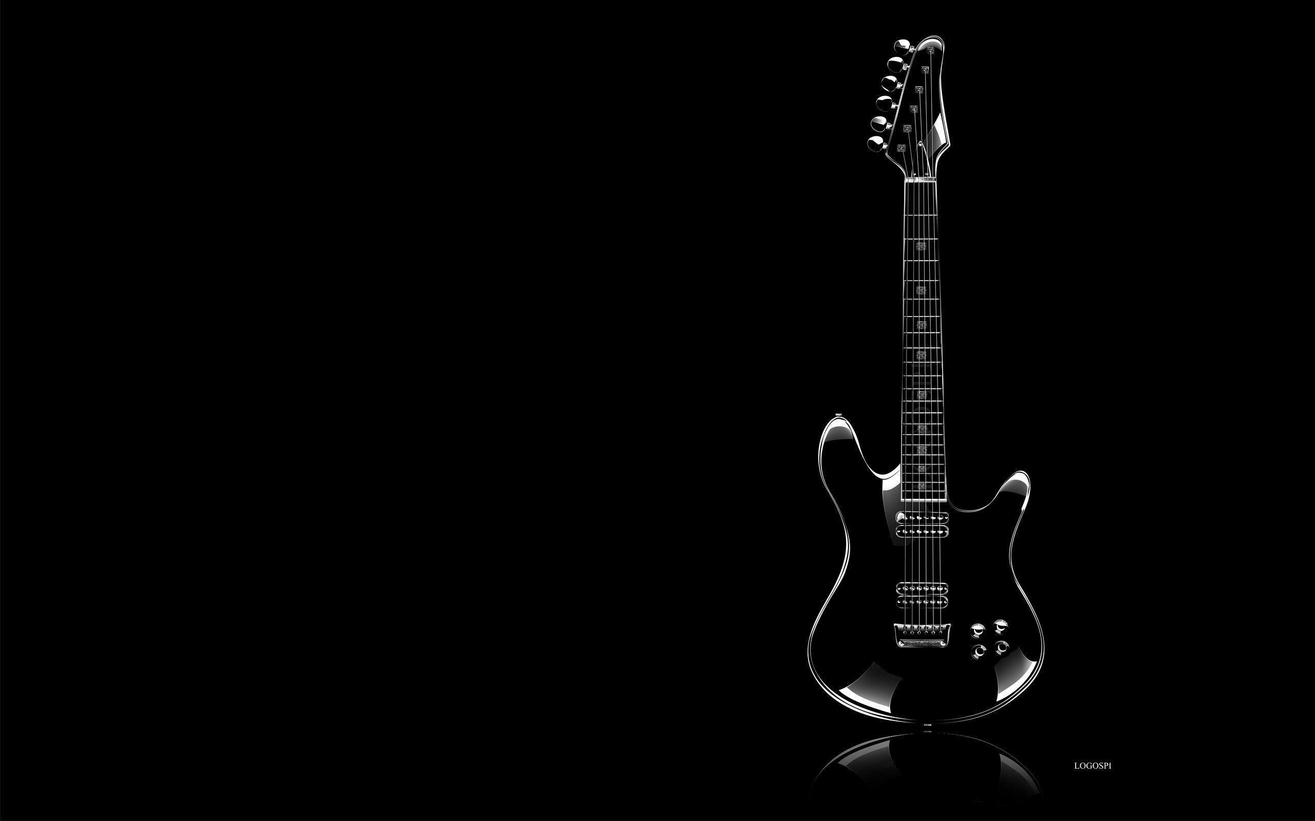 Guitar Black Backgrounds Wallpaper Cave