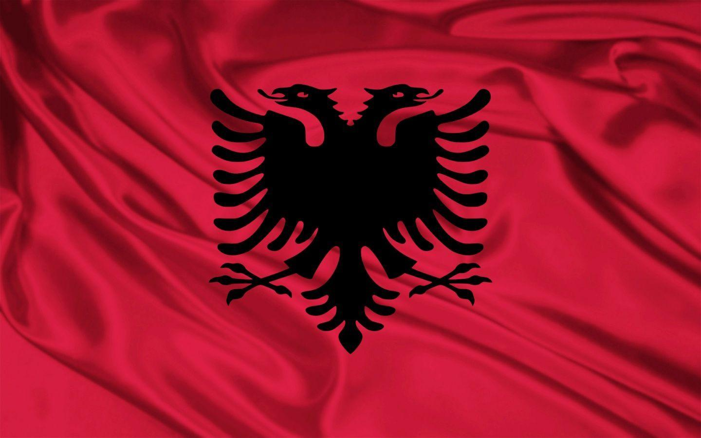 1440x900 Albania Flag desktop PC and Mac wallpapers