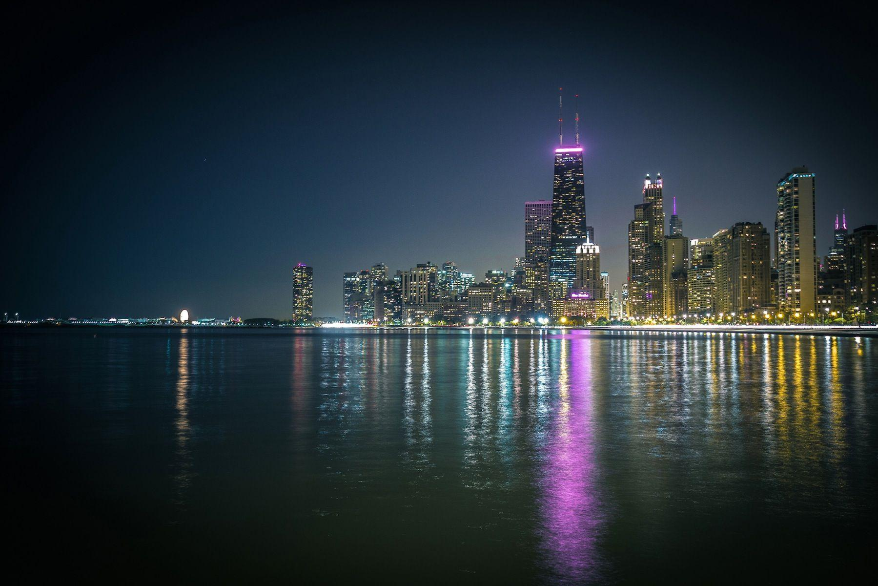 Night City Of Chicago HD Wallpaper
