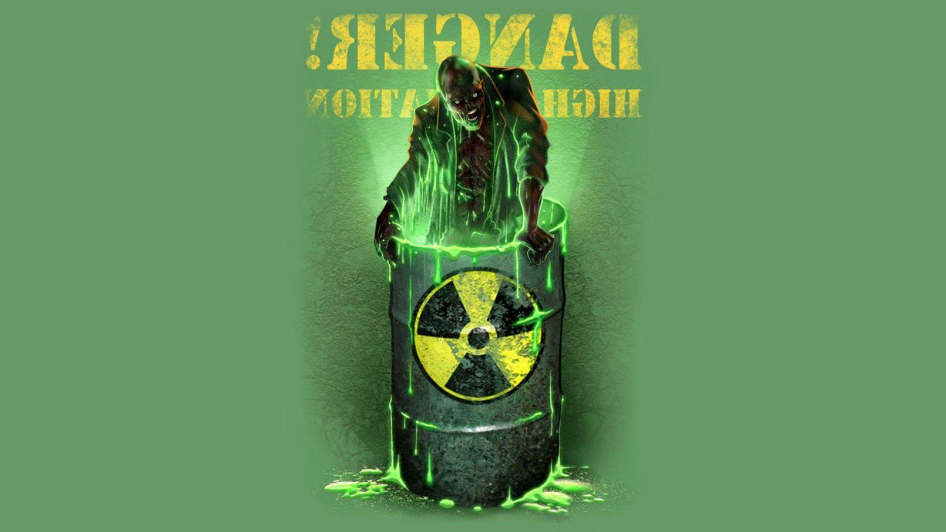 Nuclear waste drum radiation wallpaper
