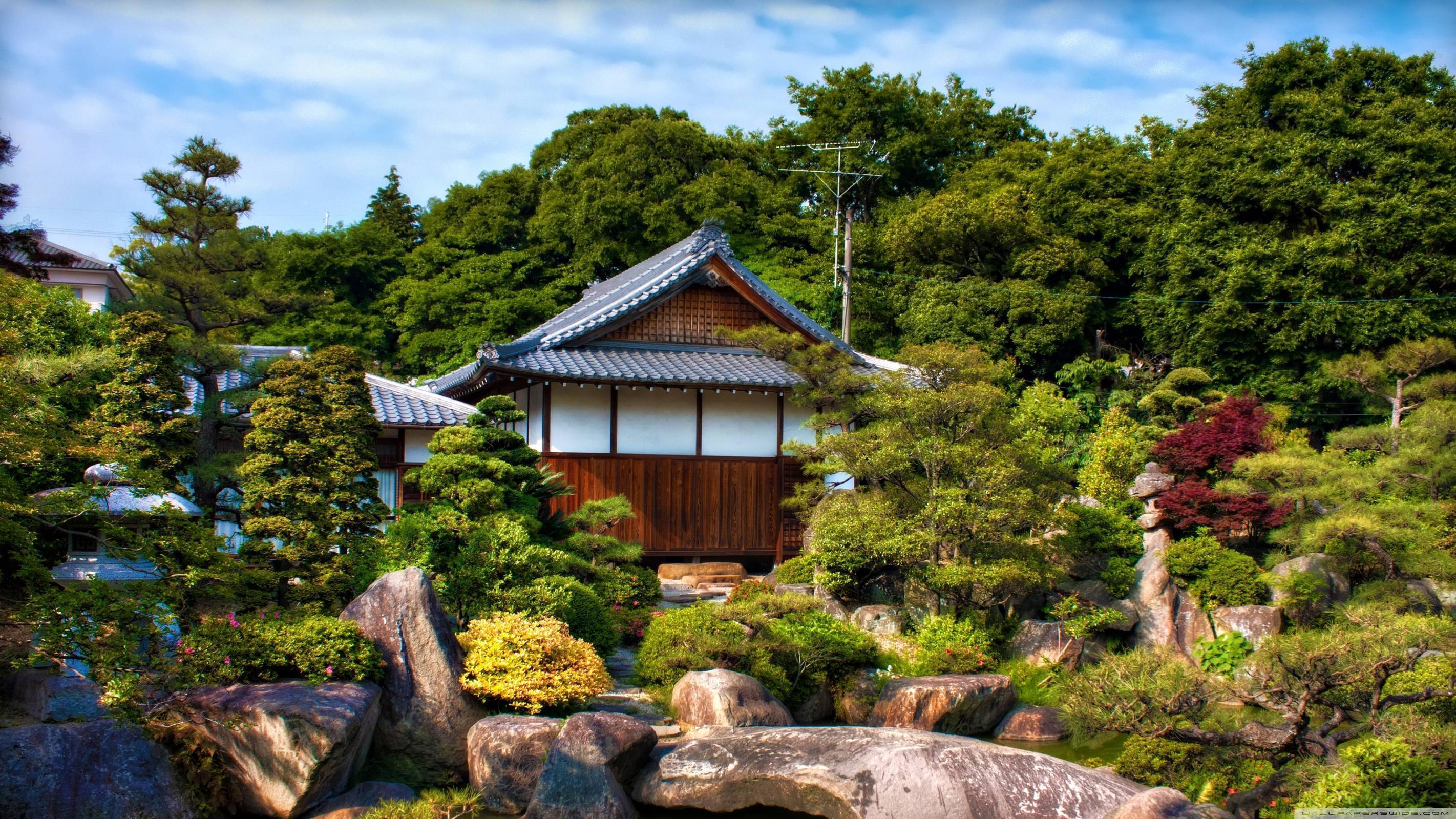 japanese garden desktop background wallpaper wallpaperpc
