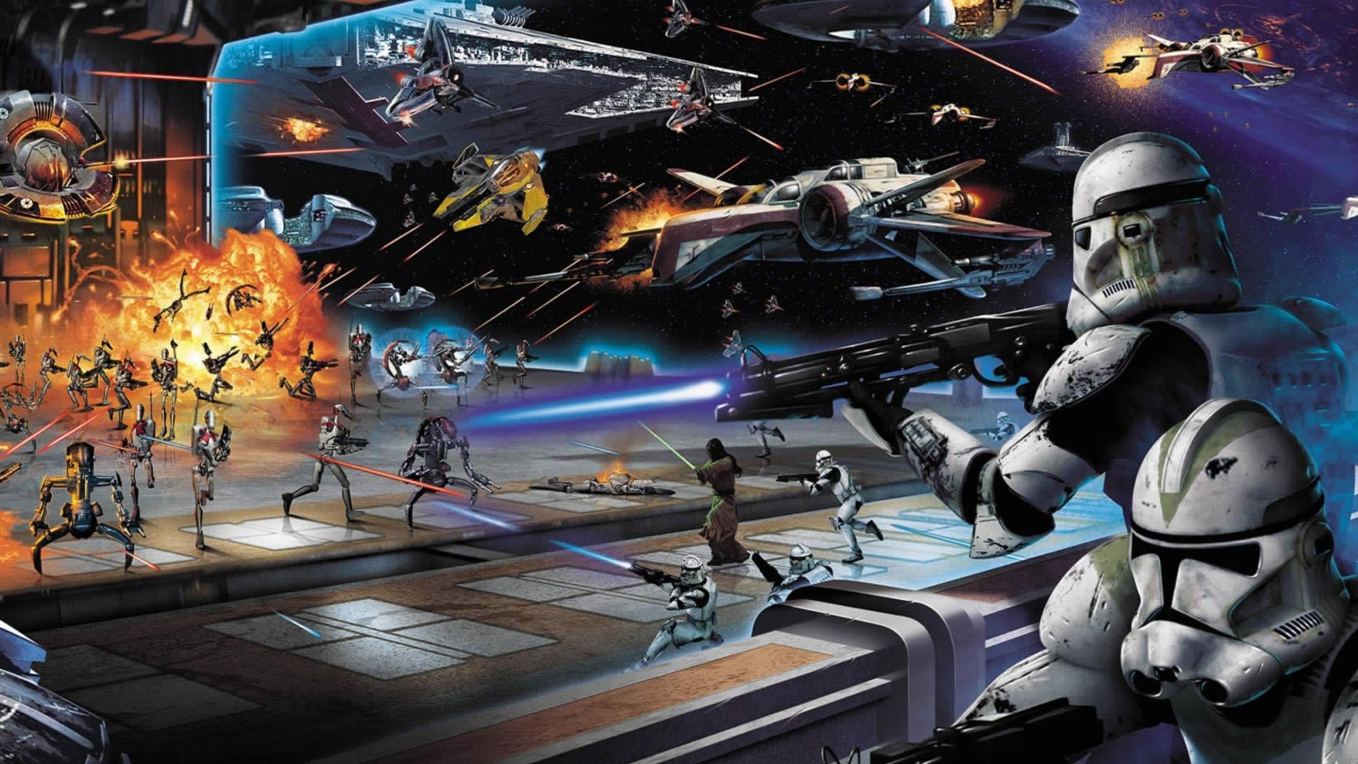 Epic Star Wars Wallpapers - Wallpaper Cave Good Vs Evil War